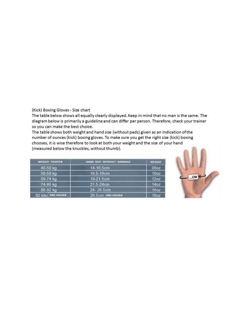 REALFIGHTGEAR Real Fightgear BXBW-1 Boks handschoenen - Zwart/Wit