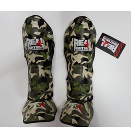 REAL FIGHTGEAR (RFG) Real Fightgear Shinguards - Camo Green