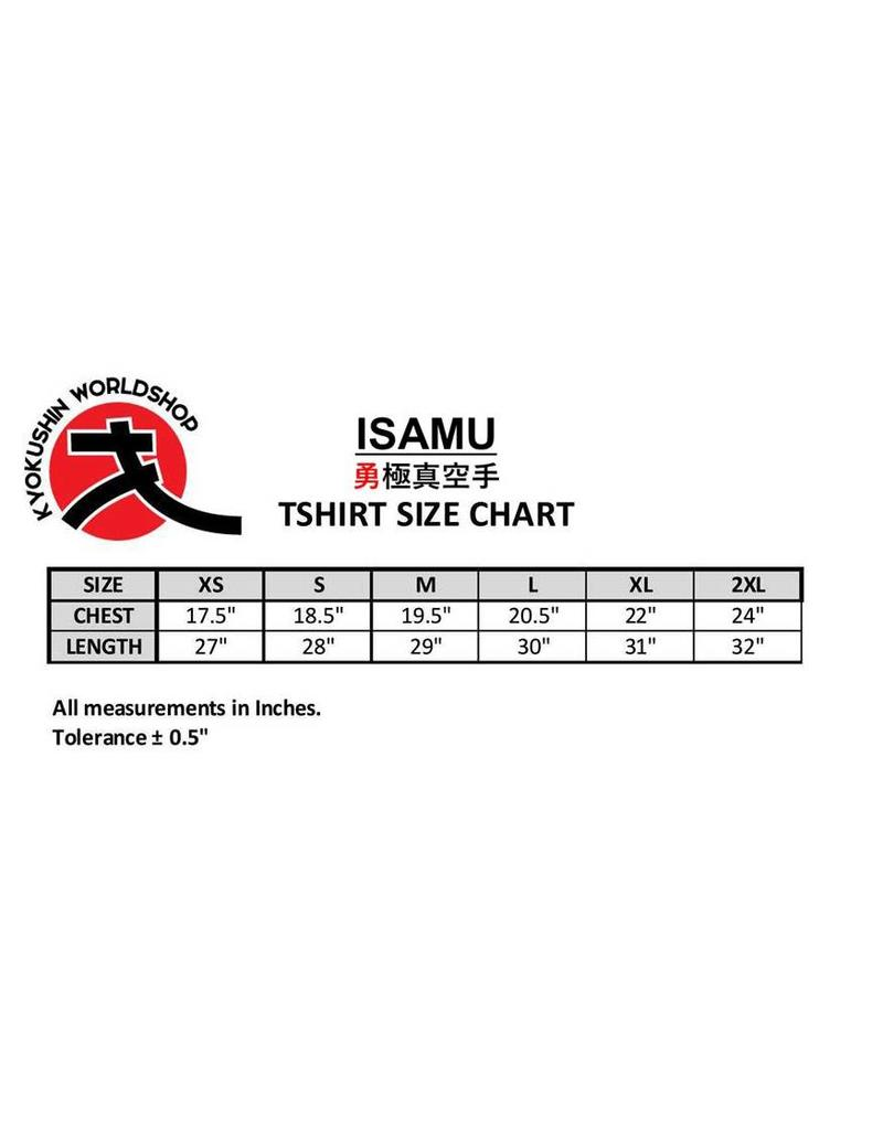 ISAMU 勇KYOKUSHINWORLDSHOP LOGO T-SHIRT ZW/RD | OP=OP