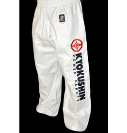ISAMU 勇ISAMU KYOKUSHINKAI POWER KARATE TROUSERS-WHITE
