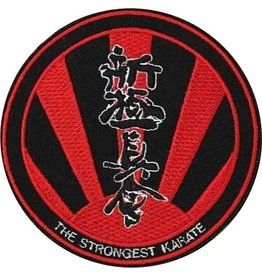 ISAMU SHINKYOKUSHINKAI THE STRONGEST KARATE LOGO BORDURING