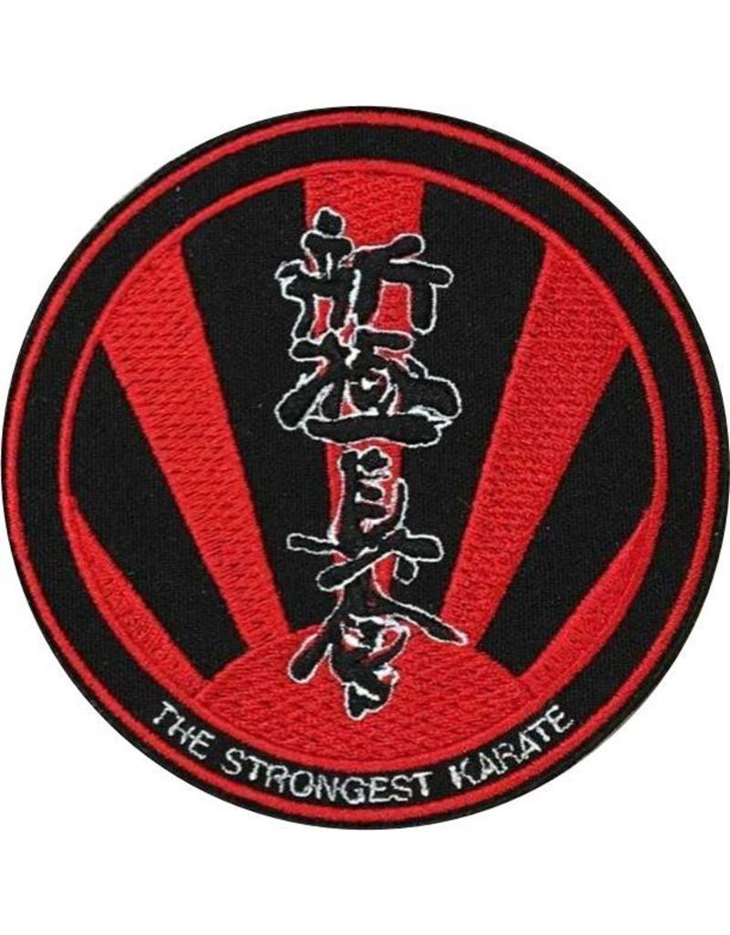 ISAMU SHINKYOKUSHINKAI THE STRONGEST KARATE LOGO BORDURING