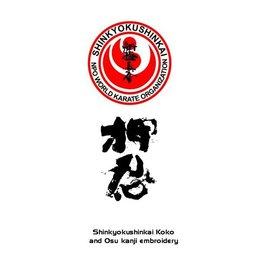 ISAMU NPO SHINKYOKUSHIN KOKORO AND KANJI EMBROIDERY