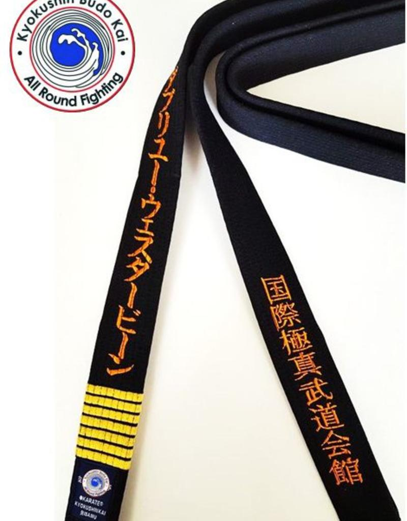 ISAMU IBK KYOKUSHIN BUDOKAI  BLACK BELT - ALL ROUND FIGHTING