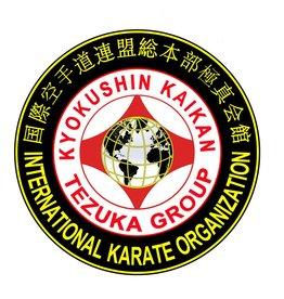 ISAMU IKO4 TEZUKA GROUP KYOKUSHIN KAIKAN LOGO BORDURING