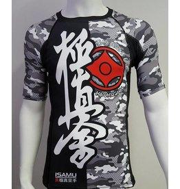 ISAMUFIGHTGEAR Isamu Kyokushin Rashguard - Camo grey While Supplies Last