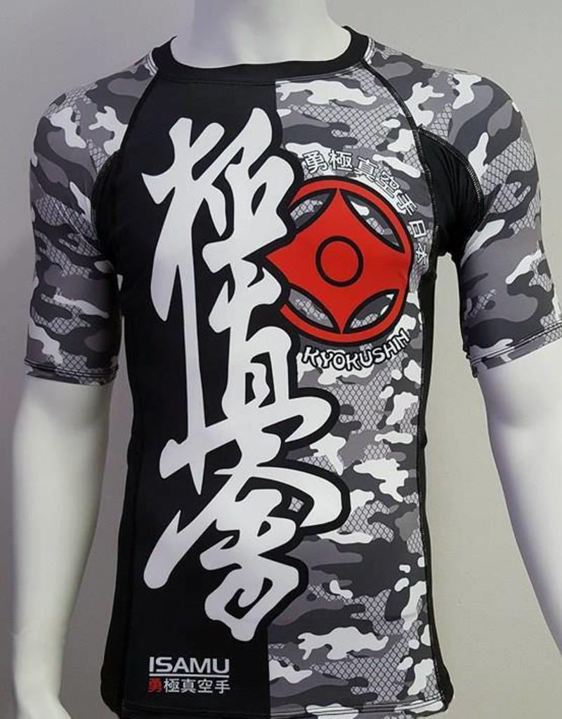 ISAMU Isamu Kyokushin Rashguard - Camo grey