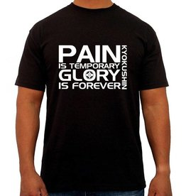 "ISAMU 勇ISAMU Pain is Temporary Glory is Forever"" Kyokushin T-Shirt - Zwart 