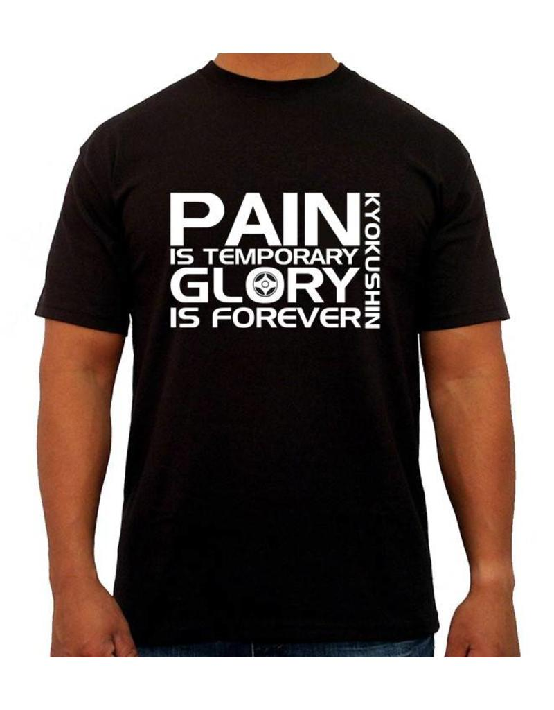 "ISAMU ""Pain is Temporary Glory is Forever"" Kyokushin Tee Shirt - Black"