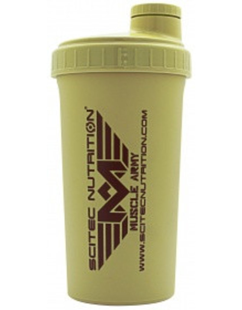 SCITEC NUTRITION Scitec Shaker muscle Army Licht bruin