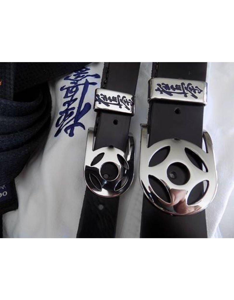 Handgemaakt Buffalo leren riem – Kyokushin Kanku