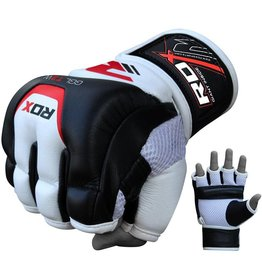 RDX SPORTS MMA Leather gel training grappling gloves