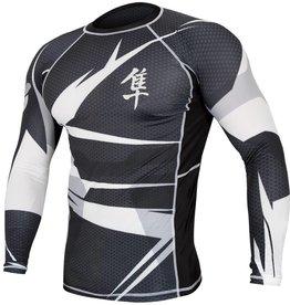 HAYABUSA Rashguard Metaru Long sleeve - Black/white