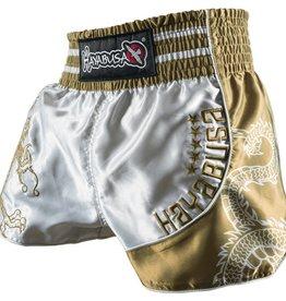 HAYABUSA Lion warrior Muay Thai (Kick)Boxing Shorts - Silver/Gold
