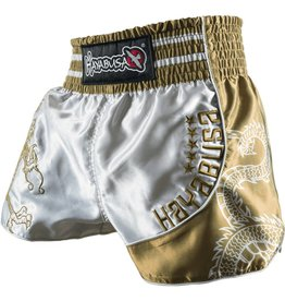 HAYABUSA Lion warrior Muay Thai (Kick)Boxing Shorts - Silver/Gold