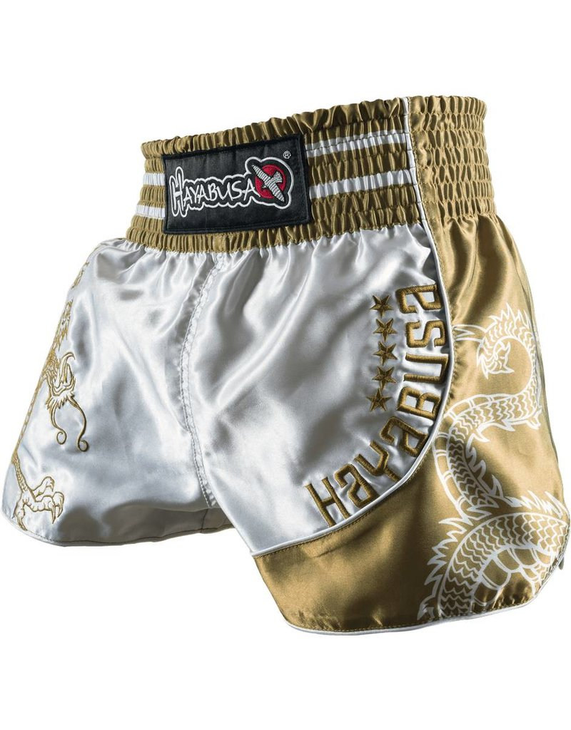HAYABUSA HAYABUSA Lion warrior Muay Thai (Kick)Boxing Shorts - Silver/Gold