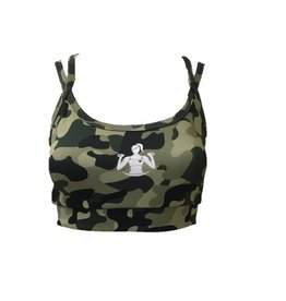 Isamu sportswear Isamu Camo Green Sports Top