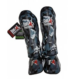 REAL FIGHTGEAR (RFG) Shinguards - Camo Grey
