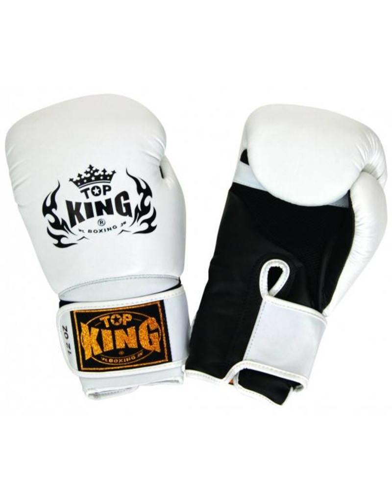 King Professional (Kick)Bokshandschoen Super Air Wit