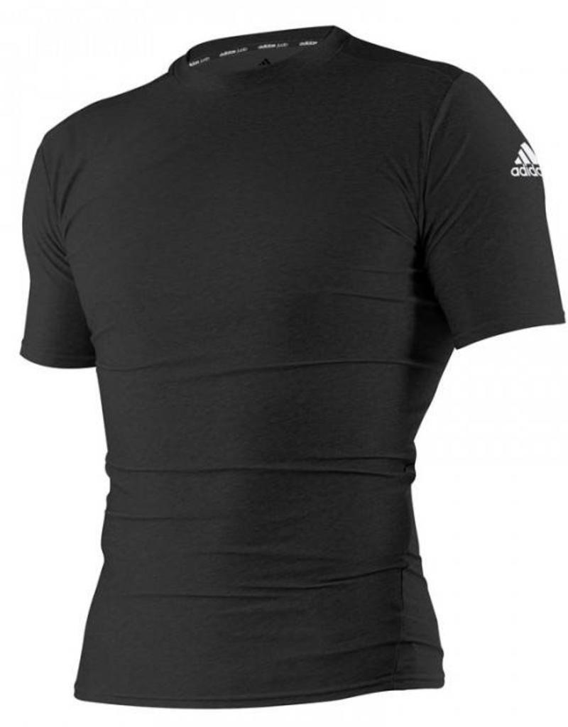 Adidas Rashguard Closefit Short Sleeve Black