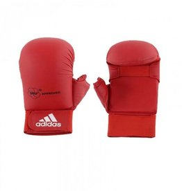 Adidas WKF Semi contact Karate Glove With Thumb Red
