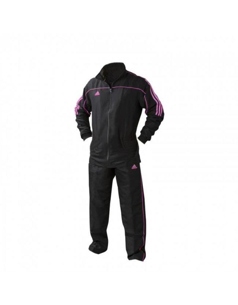 Adidas Team Track Trainingspak Zwart/Roze   OP=OP