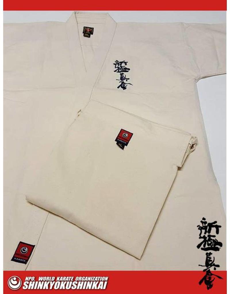 ISAMU  勇ISAMU SHINKYOKUSHINKAI KARATE PREMIUM CLASSIC IVORY GI K7400
