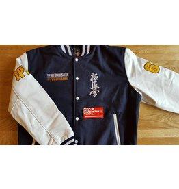 ISAMUFIGHTGEAR 勇ISAMU Kyokushin Power Karate Varsity jacket - Navy Blue WHILE SUPPLIES LAST