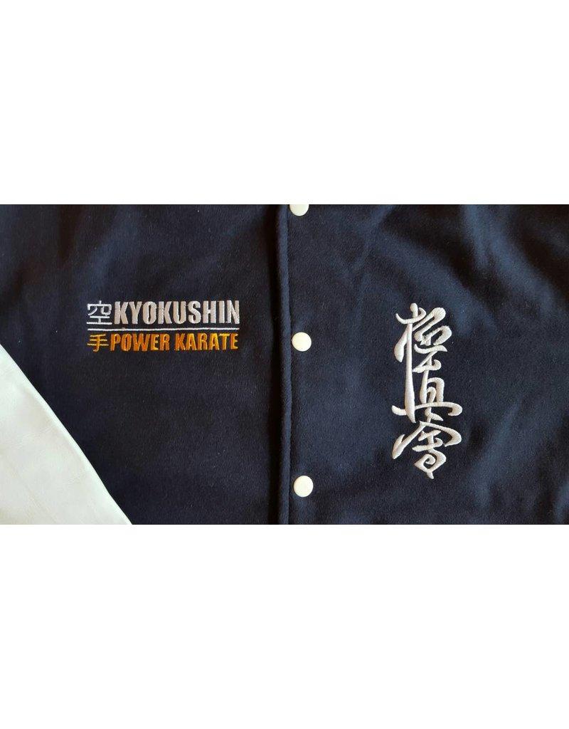 ISAMU 勇ISAMU Kyokushin Power Karate Varsity jas - Navy Blauw OP=OP