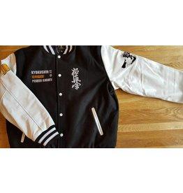 ISAMU 勇 ISAMU Kyokushin Ichigeki Varsity jacket - Black WHILE SUPPLIES LAST