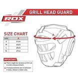 RDX SPORTS Hoofdbeschermer - Grill regular - Rood