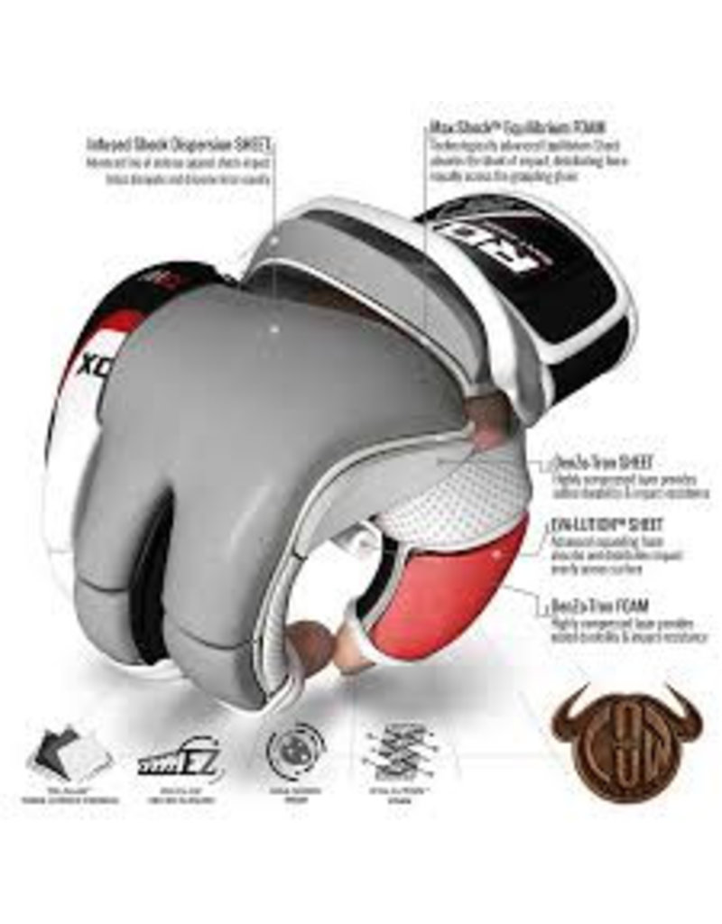 RDX SPORTS MMA Leren trainings handschoenen met gel
