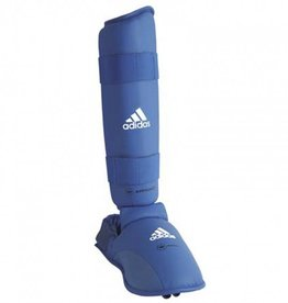 Adidas WKF Shin Protector With Removable Foot / Bleu