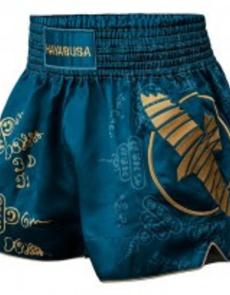 HAYABUSA HAYABUSA KICKBOKS BROEKJES FALCON MUAY THAI SHORT -Blauw
