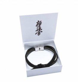 Kyokushinworldshop Leather OBI bracelet