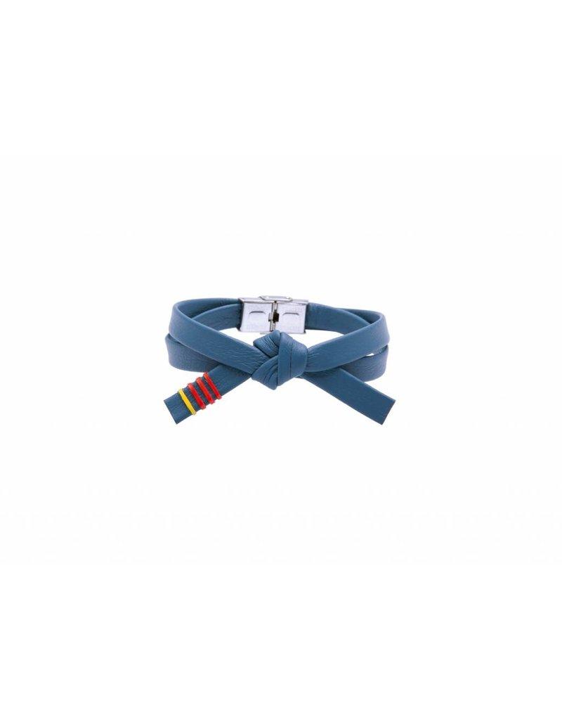 Leather OBI bracelet