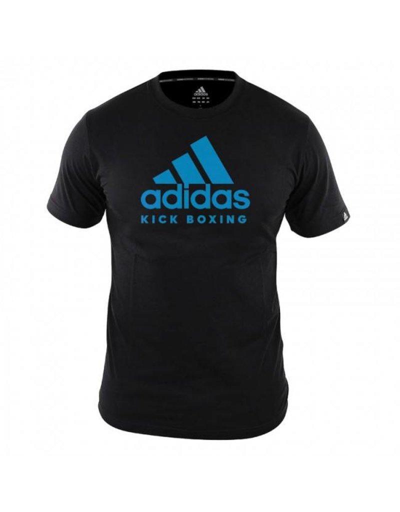 f42cf2055 Adidas T-Shirt Kickboxing Community Black / Blue - Kyokushinworldshop