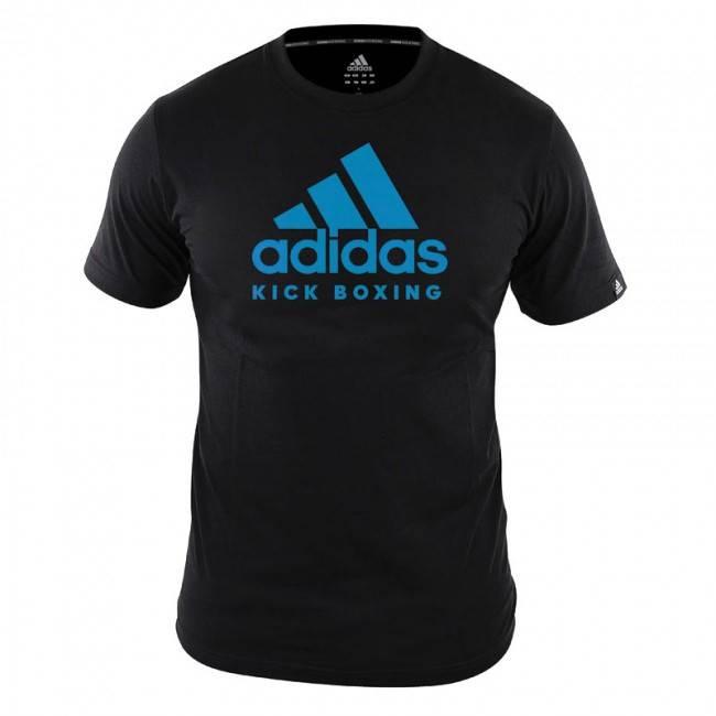 Grande Asumir club  Adidas T-Shirt Kickboxing Community Black / Blue - KYOKUSHINWORLDSHOP