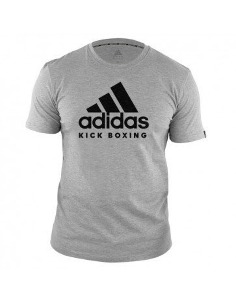 Dibuja una imagen imagen microscópico  Adidas Kids T-Shirt Kickboxing Community Grey/Black - KYOKUSHINWORLDSHOP