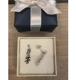 Kyokushin Kanji Oorhangers 925 Sterling Silver