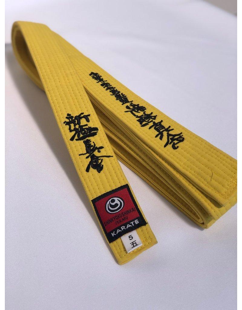ISAMU 勇 ISAMU Colored Shin Kyokushin Kyu Band With Shinkyokushin Kanji