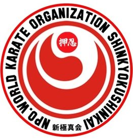 ISAMU SHINKYOKUSHINKAI WORLD KARATE ORGANIZATION LOGO  BORDURING