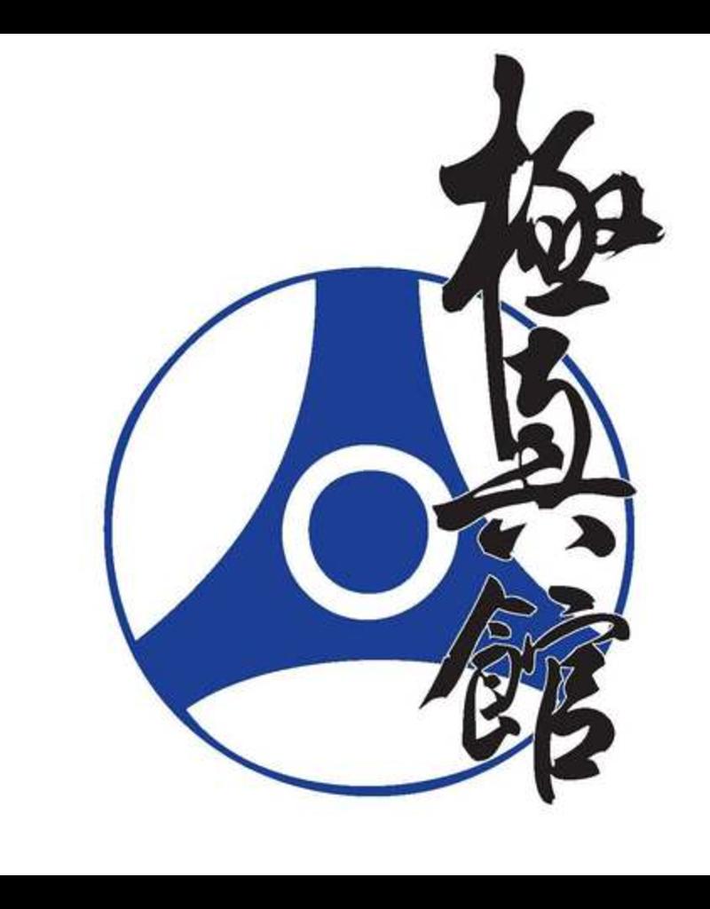 ISAMU Kyokushin-Kan Kanji en logo borduring - Marine  Blauw I Zwarte kanji