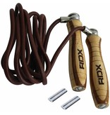RDX SPORTS RDX L1 Leather Skipping rope with wooden handle