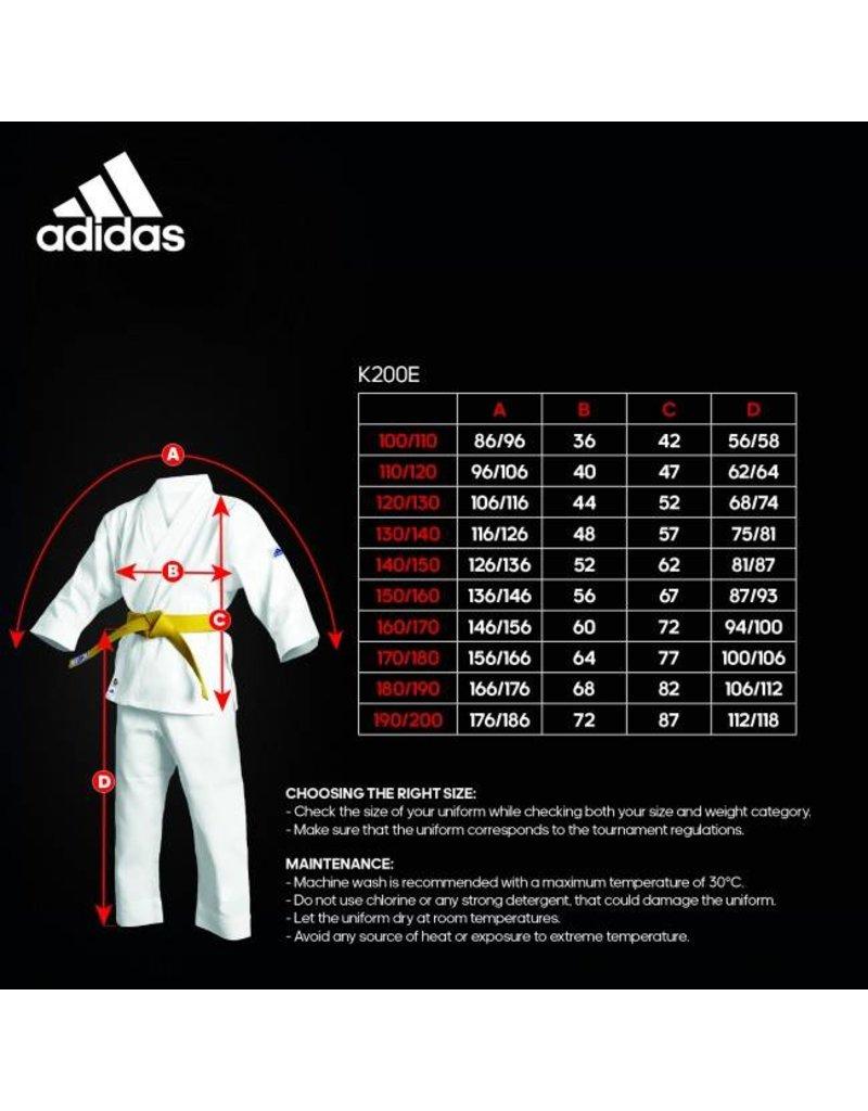 Adidas Karate pak K200 Kids - Wit/Groen