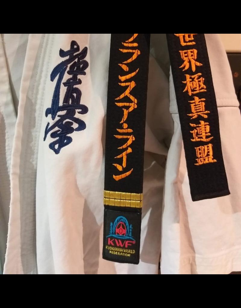 ISAMU 勇ISAMU KWF KYOKUSHINKAI ZWARTE BAND
