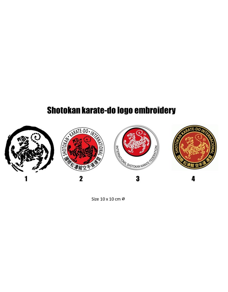 ISAMU Shotokan karate-do logo embroidery