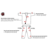 ISAMU Shotokan karate-do logo borduurwerk