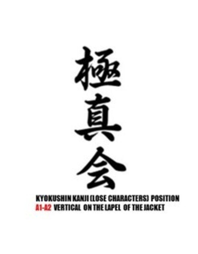 ISAMU KYOKUSHIN I 3 LOOSE KANJI LETTER TYPES