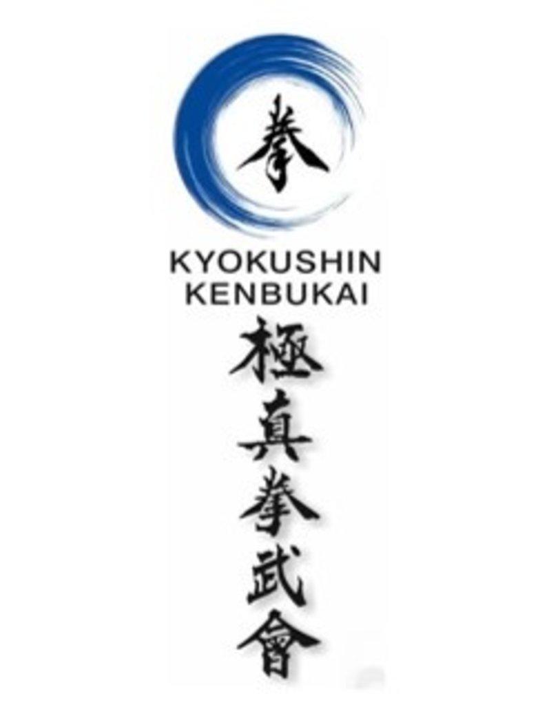 ISAMU KENBUKAI KYOKUSHINKAI KARATE LOGO AND KANJI EMBROIDERY